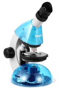 Детский микроскоп SIGETA MIXI 40x-640x BLUE (с адаптером для смартфона)