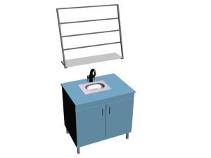 Стол-мойка лабораторная с сушкой