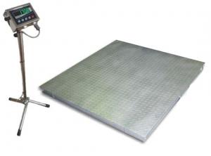 Весы низкопрофильные пыле-влагозащищенного исполнения Техноваги ТВ4-2000-0,5-(1500х1500)-12