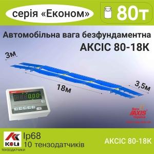 Весы автомобильные 80т 18м АКСИС 80-18-К-Э