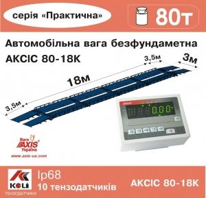 Весы автомобильные 80т безфундаментные 18м АКСИС 80-18-К-П