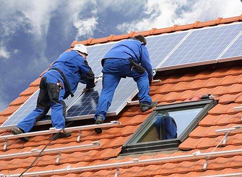 Установка солнечных коллекторов, монтаж солнечных коллекторов
