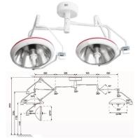 Однорефлекторная бестеневая операционная лампа ОБЕРЕГ 700/700