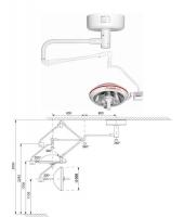 Однорефлекторная бестеневая операционная лампа Оберег 500