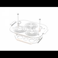 Корзина для бани лабораторной Uoslab на 3 места (c кольцами-крышками)