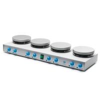 Многосекционная AM4 & AM4X VELP (на 4 позиции) нагревательная магнитная мешалка с индивидуальной настройкой параметров