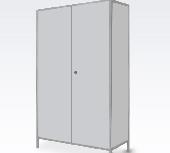 Шкаф для халатов цельнометаллический двустворчатый ШХМ-2
