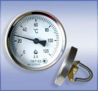 Термометр биметаллический трубный ТБТ-63 ( 0…+120)