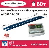 Весы автомобильные 80т безфундаментные 18м АКСИС 80-18-К-Б