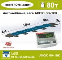 Весы автомобильные 80т фундаментные 18м АКСИС 80-18-К-Б