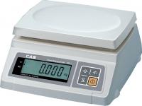 Настольные весы CAS серии SW-5C для простого взвешивания (пластиковая платформа, один индикатор, счетный режим)