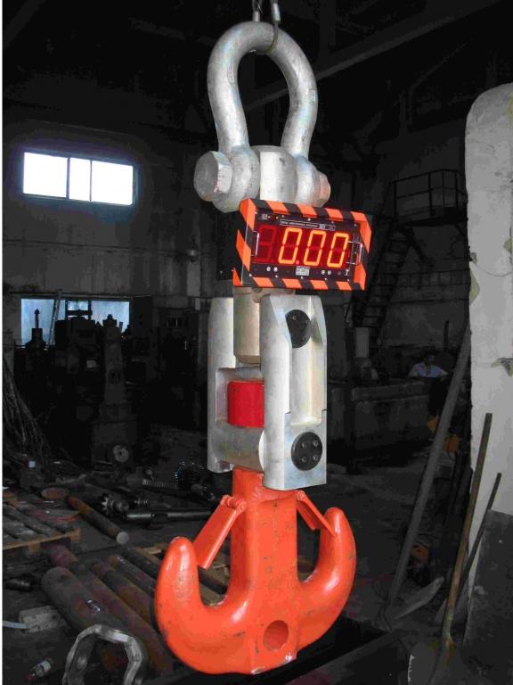 Весы крановые  ВЕК-100К  с индикаторами размером (60х100) мм