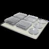 Плоска платформа з нековзним силіконовим покриттям Biosan PP-400